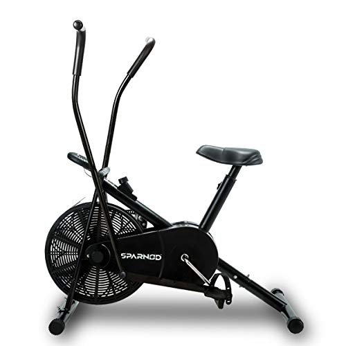Sparnod Fitness SAB-06 Air Bike Exercise Cycle for Home Gym - Dual Action for Full Body Workout -...