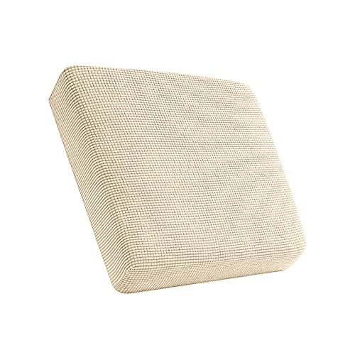 D dolity Polyester Spandex Stretch Sofa Futon Sitzkissenbezug Couch rutschfest erstreckt Displayschutzfolie Ersatz Wohnzimmer Home Cream_size M