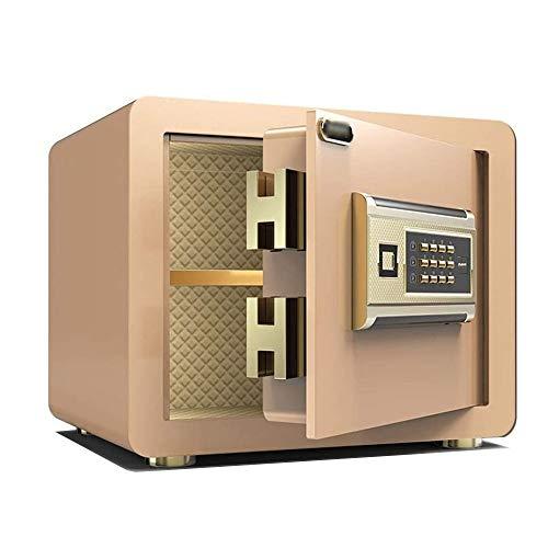 ZBM - ZBM Safes huishoudklein wachtwoord All-Staal anti-diefstal muur-nachtkastje kantoor 25 cm kluis vuurbestendig, waterdicht, anti-vervorming en anti-boren Key Deposit Box documentbox slot Tyrant goud.