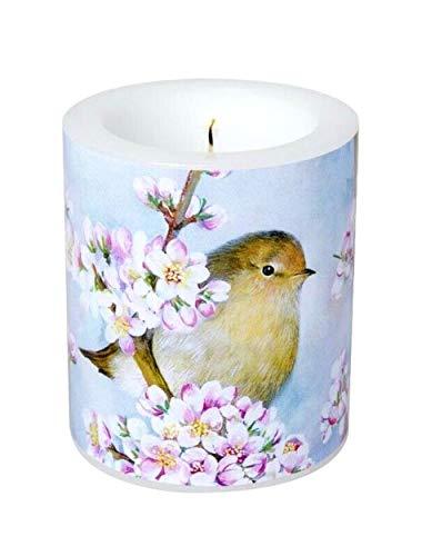 Kerze groß Winter Futtergabe Vögel Hase Schnee Tischdeko Weihnachtsdeko Äpfel