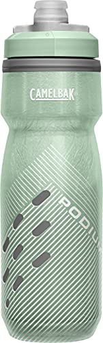 CamelBak Podium Chill Insulated Bike Water Bottle - Squeeze Bottle - 21oz, Sage Perforated