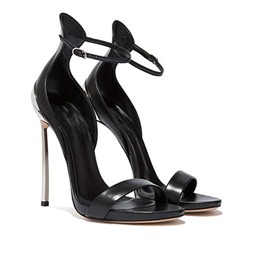 Sandalias de tacón de aguja para mujer, 12CM Sandalias sexy elegantes simples,...