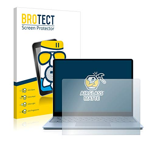 brotect Anti-Glare Glass Screen Protector compatible with Microsoft Surface Laptop Go - 9H Glass Protector Matte