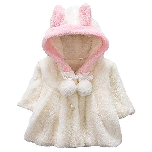 Chiyeee baby kind kleine kinderen sterke warme bont fleece met capuchon cape cape cape poncho mantel outwear mantel