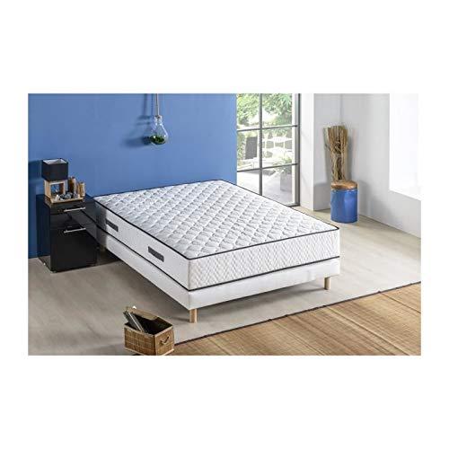 Deco Dream Set matras + lattenbodem 140 x 190 cm – veren – 24 cm – 5 zones – evenwicht, ontspanning