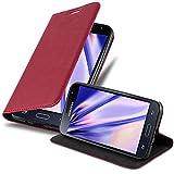 Cadorabo Funda Libro para Samsung Galaxy J3 / J3 DUOS 2016 en Rojo Manzana - Cubierta Proteccíon con Cierre Magnético, Tarjetero y Función de Suporte - Etui Case Cover Carcasa