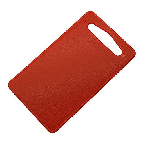 Fackelmann Rojo, Tipo de Alimentos, Tabla de Cortar Cocina Polietileno pequeña asa, para Verduras, Carne, Pescado, embutido o Queso, 24x14cm, 1ud LLDPE, 24x14x0,5cm