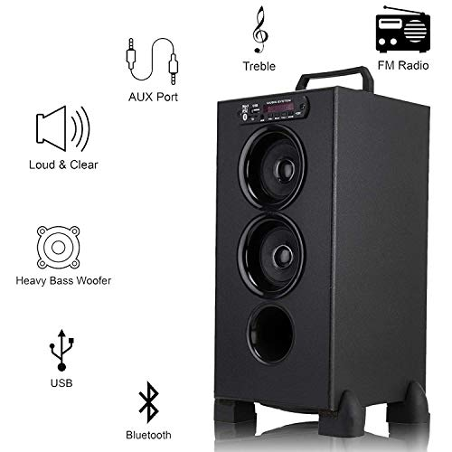 Bencley Bluetooth Liliput Tower Speakers 15000W PMPO with FM/PenDrive/Sd Card/Mobile/Aux Support