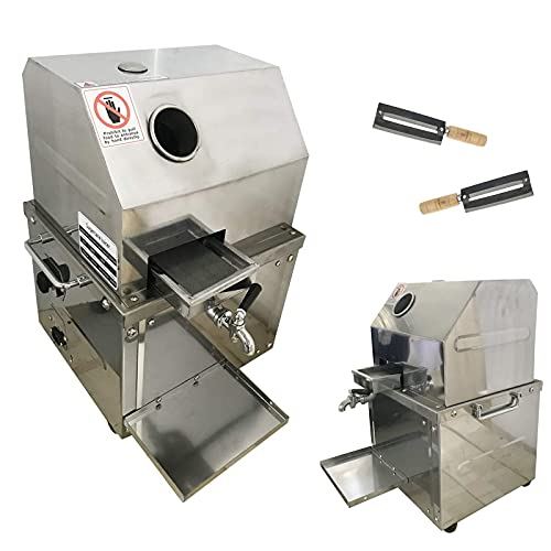 INTBUYING 304 Stainless Steel Electric Sugar Cane...