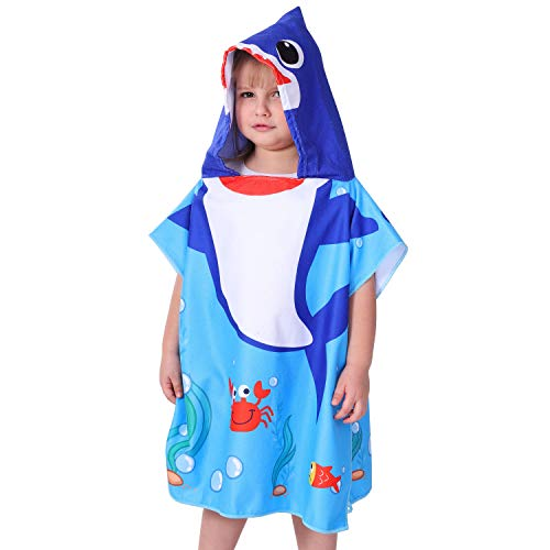 Agetp Kids Hooded Towel for Swimsuit Cover Up for Beach, Pool, Bath Super Soft and Absorbent 100% Microfiber 24