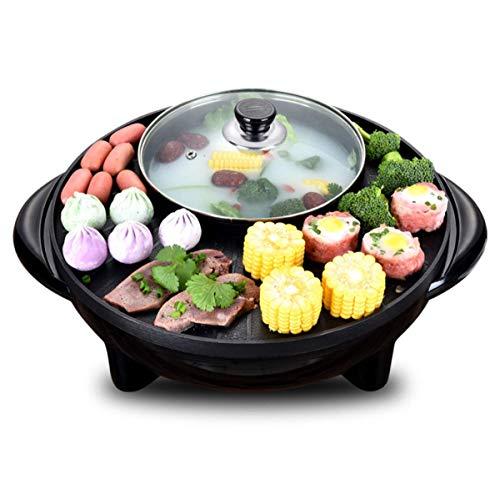 WJJJ Hot Pot Électrique Plat De Cuisson BBQ Appareils Électroménagers Multi-Fonctionnels Cuisine Pan De Fer (44.5 * 16.5 * 40Cm)