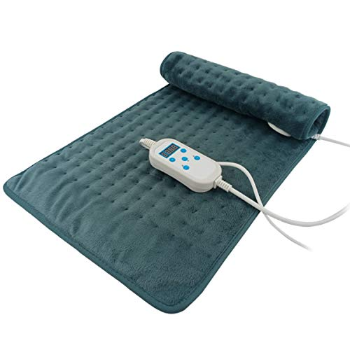 Heating Pad, 24' x 12' Electric Heat Pad for Back Pain and Cramps Relief - Electric Fast Heat Pad with 9 Heat Settings -Auto Shut Off- Machine Washable