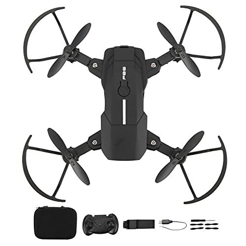 F86 RC Mini Drone con Videocamera HD per Adulti Principianti, Giroscopio RC a Sei Assi a Doppio Braccio Pieghevole per Bambini, Modalità Senza Testa, Avvio con un Tasto, Waypoint Fly(nero 30W)