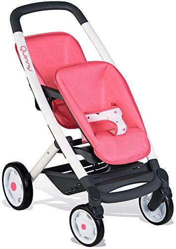 Smoby 253298 – Quinny Zwillings-Sportwagen Rosa - für Puppen bis 42 cm – Puppenwagen für zwei Puppen im Quinny-Design, für Kinder ab 3 Jahren