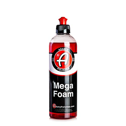 Adam's Mega Foam Car Soap - Concentrated pH Neutral Car Wash Soap   Extreme Suds In 5 Gallon Bucket Foam Cannon Pressure Washer   Foam Gun Pad Sponge Mitt Chamois   Safe On Car Wax & Ceramic Coating
