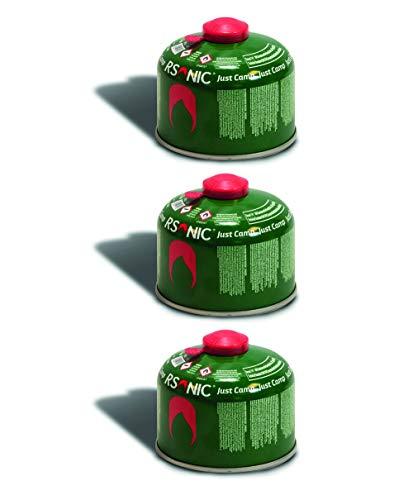 RSonic Schraubventilkartusche, Camping-Gas Butan-Propan/Ventil Gas Kartusche für Campingkocher, Gaskartusche mit Schraubventil Gewinde 100g-230g-450g (3, 230g)