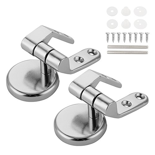 FP 2 Pack Super Tight Toilet Seat Hinge Replacement Parts with Fittings Stainless Steel Toilet Seat Hinges with Bolts and Nuts