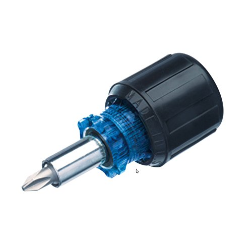 Ideal 35-945 Stubby 6-in-1 Multi-Bit Screwdriver And Nut Driver