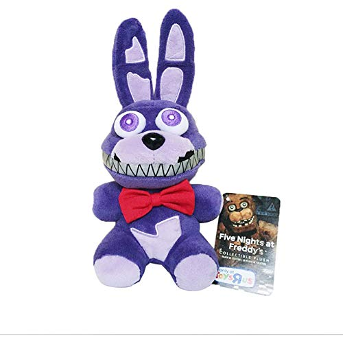 LYH2019 Five Nights At Freddy'S 4 FNAF Nightmare Rabbit Bonnie Plush Toy Doll Soft Stuffed Animals Toys Gifts For Kids Children 18Cm