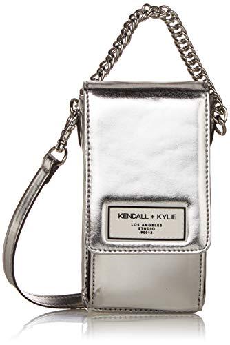 Kendall + Kylie Damen Stella - Silver Umhängetasche, silber, Einheitsgröße