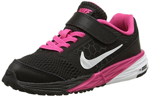 Nike Herren, tri Fusion Run (PSV), Mehrfarbig (Black/metallic Silver-VVD pink), 28