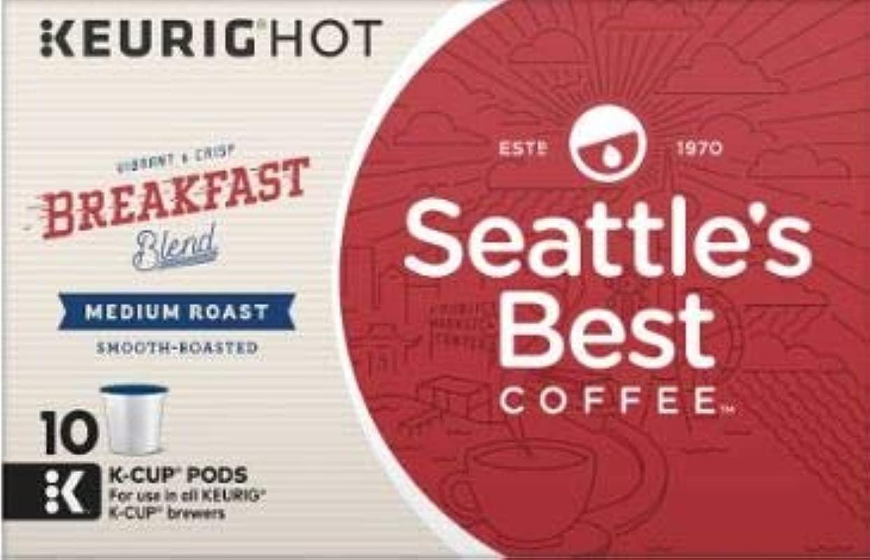 Seattle S Best Breakfast Blend Keurig K Cup Coffee Medium Roast 1 Box Of 10 K Cups