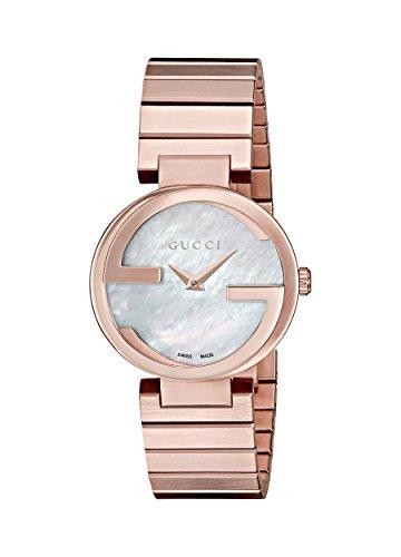Gucci Interlocking-Reloj de Pulsera analógico para Mujer Cuarzo,