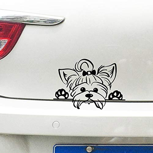 FAFPAY Autoaufkleber Yorkshire Terrier Vinyl Aufkleber Aufkleber Auto Dekor, Welpe späht Yorkie Hunderasse Haustier Aufkleber für Cup Laptop Dekoration