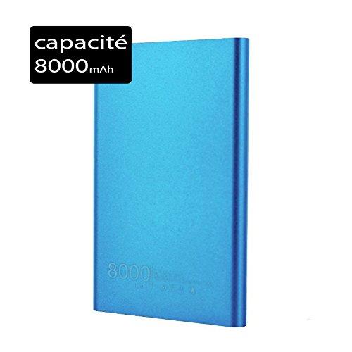 Power Bank Batteria di Emergenza Esterna Slim 8000mAh per Nokia Lumia 640Blu