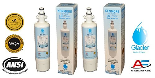 LG Refrigerator Water Filter Replacement - Fits LG Refrigerator Filter for LT700P, ADQ36006101, Kenmore 46-9690 - Compatible with LG Water Filter LT700P for Refrigerator (2)