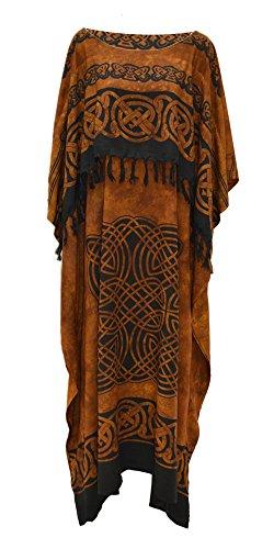 Cool Kaftans Neue keltische Kaftan Schnitt Kleid Plus One Size Cool weicher Cool Kaftans, Braun