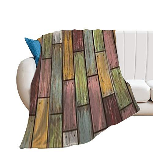 BlanketColorfulness Patrón de madera amarillo púrpura rosa línea de madera de color rectángulo magenta