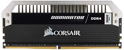 CORSAIR 32GB (2 x 16GB) Dominator Platinum DDR4 PC4-21300 2666MHz Desktop Memory Model CMD32GX4M2A2666C15