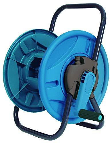 Aqua Control C2096 Carro portamangueras. Devanadera para Manguera de 12 o 15 mm. Fabricado en Metal zincado y plástico Resistente, Plata