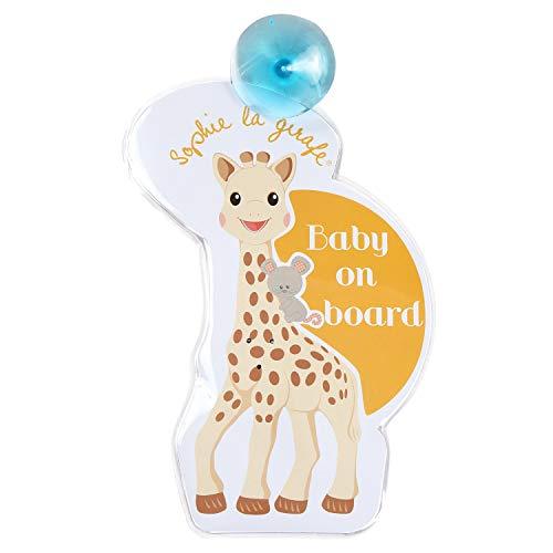 Vulli 470213 - Indicativo de'Bebé a bordo' para el coche, diseño Sophie la jirafa