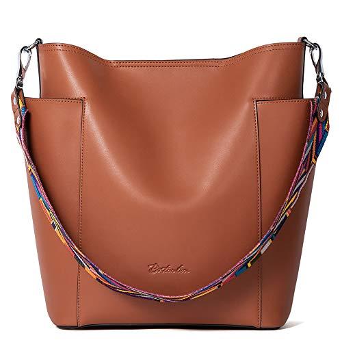 Muttertagsgeschenk BOSTANTEN Leder Damen Handtasche Schultertasche Umhängetasche Designer Hobo Taschen Braun