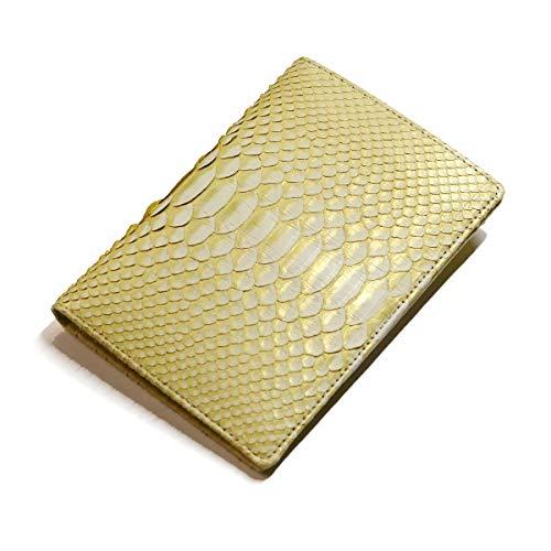 ZE1213-GOLD カードケース 診察券 お薬手帳 保険証 パスポート 通帳 カード各種 ダイヤモンド パイソン革 蛇革 本革 ゼブラ ゴールド