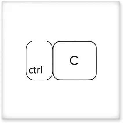 Símbolo de teclado Ctrl C cerámica crema decoración de ...
