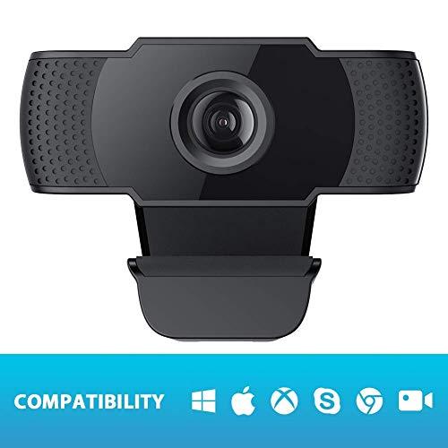 LIUSHI Cámara Web HD 1080p con micrófono, cámara Web, Clip Giratorio Flexible, Video Llamada, videoconferencia, cámara de computadora para Juegos