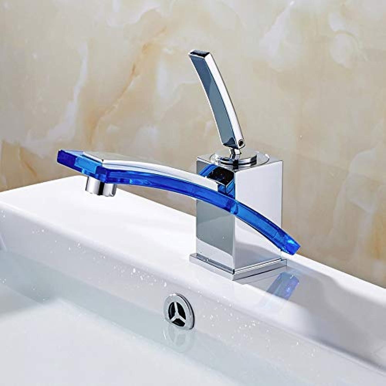 Lddpl Wasserhahn Gro-und Einzelhandel langen Auslauf Bad Becken Wasserhahn kalt heier Chrom Messing Glas Vanity Sink Mischbatterie