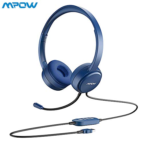 VTIN Wired Headset with Microphone USB//3.5mm Computer Headphone Noise Cancelling