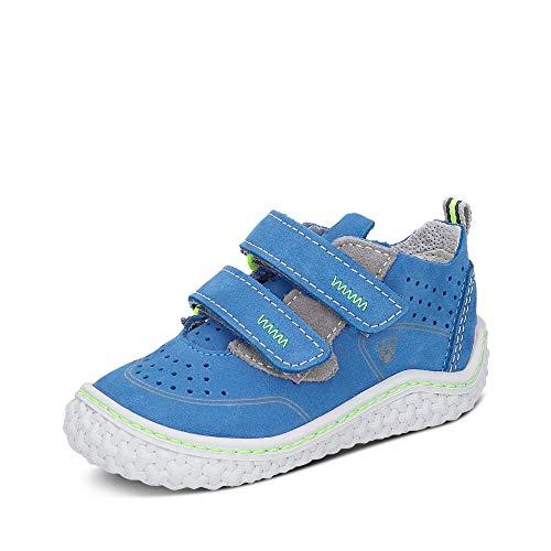 RICOSTA Pepino Niños Zapatos Bajos CHAPP, Chico Zapatos con Cierre de Velcro,Aprender a Caminar Zapato,Normal (WMS),Azur,25 EU / 7.5 Child UK