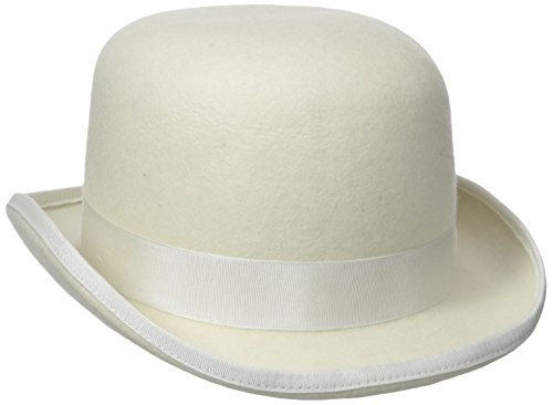 STACY ADAMS Men's Wool Derby Hat, Ivory, Medium