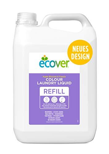 Ecover Waschmittel Color Apfelblüte & Freesie (5 L/100 Waschladungen), Flüssigwaschmittel mit pflanzenbasierten Inhaltsstoffen, Colorwaschmittel für Erhalt und Schutz der Kleidung
