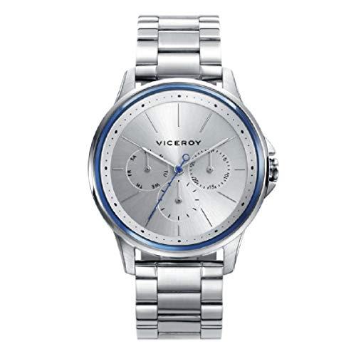 Viceroy 46761-17 Reloj de Hombre Cuarzo Multifunción Acero Brazalete Tamaño 42 mm