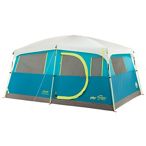 Coleman Tenaya Lake 8 Person Fast Pitch Instant Cabin Camping Tent w/Weathertec