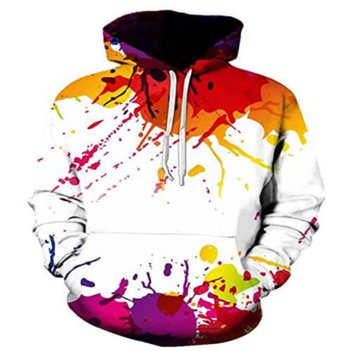 Conjunto de sudadera con capucha para hombre de mujer con capucha Visión colorido arte abstracto impresión 3D, caqui, talla de un talla/L
