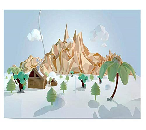 3D wallpaper cartoon boom bergen sneeuw scene muursticker sticker papier muurschildering tv sofa achtergrond woonkamer kind slaapkamer wooncultuur (W)500X(H)350cm