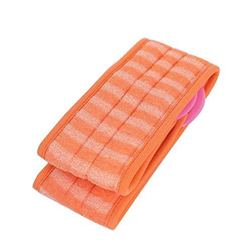 Ndier La Exfoliante Loofah Back Scrubber con Extra Large Natural Luffa Reduce Back Cepillos para baño de acné (Naranja)