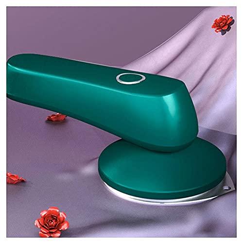 DZDZ Mini Hierro inalámbrico Recargable Portátil Pequeño Dormitorio Viaje Pandía de Mano Máquina de Planchar 0930 (Color : Green)